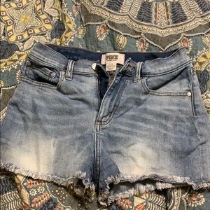 PINK Victoria's Secret Shorts - Pink jean shorts